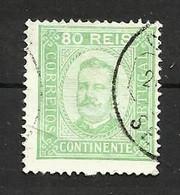Portugal N°73 Cote 60 Euros - 1892-1898 : D.Carlos I
