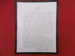 GENEALOGIE DECES GENERAL DAMAS 1869 - Obituary Notices