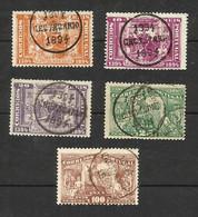 Portugal N°96, 97, 99, 100, 104 Cote 18.25 Euros - 1892-1898 : D.Carlos I
