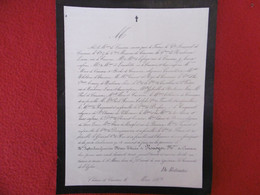 GENEALOGIE NOBLESSE DECES SOPHIE ANNE GENEVIEVE MARIE THERESE DE RENOYER MARQUISE DE CAUSAUS 1869 - Obituary Notices
