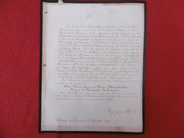 GENEALOGIE NOBLESSE DECES THERESE CLEMENT DE TRYON MONTALEMBERT MARQUISE DE BERMONDET DE CROMIERES 1869 - Obituary Notices