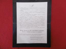 GENEALOGIE NOBLESSE DECES  HENRIETTE DU PUY MONTBRUN D AUBIGNAC BARONNE DE GIRARD DE MIELLET VAN COEHORN 1903 - Obituary Notices