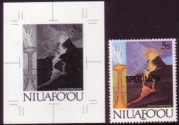 Tonga Niuafo'ou 1989  - Volcano - Proof + Specimen - Volcans