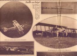 Orig. Knipsel Coupure Tijdschrift Magazine - Ronde Van België Per Vliegtuig , Knokke Oostende Blankenberge - 1927 - Unclassified