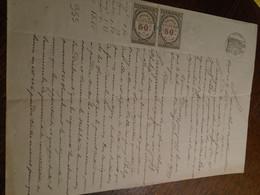 1877- Alpes/ Ht PROVENCE ( MOUTIERS Ste MARIE)OBL/DECIMAL+ Tampon A SEC +TP/DIMENSION+FILIGRAMME - Steuermarken