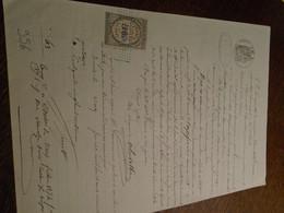 1874-PUY DE DOME  -( ISSOIRE ) OBL/DECIMAL+ Tampon A SEC +TP/DIMENSION+ FILIGRAMME+4 Photos - Steuermarken
