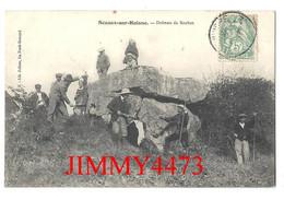 CPA - SCEAUX-sur-HUISNE - Dolmen Des Roches ( Bien Animé ) ( Arr. De Mamers 72 Sarthe ) N° 4171 - Edit. Lib. Jullien - France