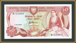Cyprus 50 Cents 1983 P-49 (49a.1) UNC - Cyprus