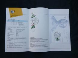 "BELG.1989 2318 2319 2320 = BL65  Folder Fr. (Brux/Brus) : "" PROMOTION DE LA PHILATELIE ROSES "" - FDC"