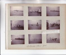 PHOTO - BELGIQUE - OSTENDE - REMORQUEUR Et BATEAU De PECHE En Août 1901 Et Vues Div Plage 9 Photos Format 5cm Sur 4 S - Andere Verzamelingen