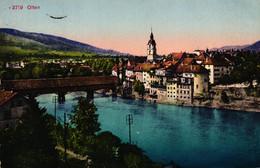 Olten, Gesamtansicht, 1918 Per Bahnpost Nach Basel Versandt - SO Solothurn