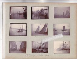 PHOTO - BELGIQUE - OSTENDE - PORT Et BATEAUX De PECHE, VOILIERS, Et Vue De Rue En Août 1901 9 Photos Format 5cm Sur 4 S - Andere Verzamelingen