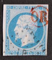 France Napoléon III Non Dentelé - N°14A Oblitération OR Rouge - 1853-1860 Napoleon III