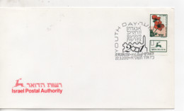 Cpa.Timbres.Israël.2001.Jerusalem.Youth Day.Israel Postal Authority  Timbre Fleurs - Israel