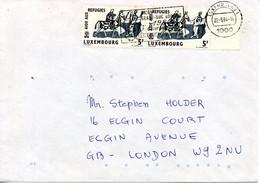 LUXEMBOURG. N°577 De 1960 Sur Enveloppe Ayant Circulé. Année Mondiale Du Réfugié. - Flüchtlinge