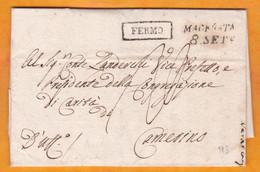 1810 - Marque Postale FERMO - MACERATA Sur Lettre Pliée Avec Correspondance  Vers Camesino, Marche, Italia - 1. ...-1850 Prefilatelia