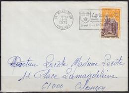 EUROPA Cath Aix La Chapelle Y.et.T. Num 1752 SEUL Sur Enveloppe De 78 MONTESSON  Postée Le 11 8 1972 Pour 61000 ALENCON - Marcophilie (Lettres)