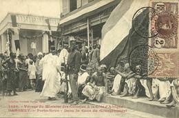 AFRIQUE OCCIDENTALE DAHOMEY PORTO NOVO  FORTIER COUR GOUVERNEMENT ANIMATION 1909 JOLI PLAN A VOIR - Dahomey