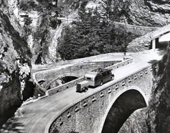 SCHWEIZ Viamala Brücke (Graub.)  SUISSE Pont Autobus Car Postal Remorque SWITZERLAND Bridge Bus Trailer - GR Grisons
