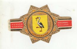 BAGUES DE CIGARE  HUDSON SIGAREN ROOSENDAAL HOLLAND  's GRAVENHAGE  SERIE 2 N° 9 - Cigar Bands