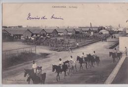 Casablanca - Le Camp Ecuries Du Train Cavalerie Militaire Maroc Correspondance Soldat - Casablanca