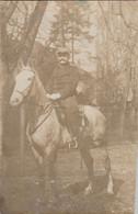 """PHOTO """"ORIGINALE"""" GUERRE 14/18    POILU SUR SON CHEVAL ECRITE EN 1911  AL 1 - Fotografía"""