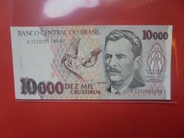 BRESIL 10.000 CRUZEIROS Circuler (B.20) - Brasil