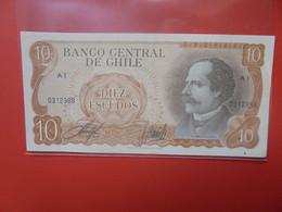 CHILI 10 ESCUDOS  Circuler (B.20) - Chile