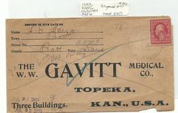 Cover Postal History IUKA KANSAS 1909 - Vereinigte Staaten