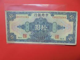 CHINE 10 DOLLARS 1928 Circuler (B.20) - Cina