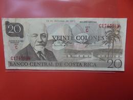 COSTA RICA 20 COLONES 1972 Circuler (B.20) - Costa Rica