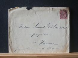 80/315  LETTRE BELGE QUEREGNON  1892 - 1883 Leopold II