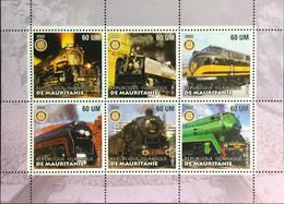 Mauritania 2002 Trains Locomotives Sheetlet MNH - Mauritania (1960-...)