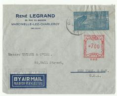 AEROGRAMME 4Fr. + Timbre Affranchissement Complémentaire De 7Fr/B 613 Obl. Sc CHARLEROI En Provenance De Marcinelle Vers - Stamped Stationery