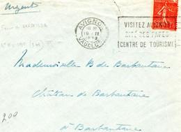 Lettre D'Avignon 1930 Avec FAUX De MARSEILLE N°199 - Mechanical Postmarks (Other)