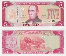 Liberia 2008 - 5 Dollars - Pick 26d UNC - Liberia