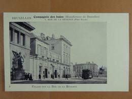 Bruxelles Compagnie Des Indes (Manufacture De Dentelles)Rue De La Régence - Old Professions