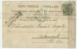 CV (LANGAGE Des TIMBRES) 5c. Armoirie Obl. Sc LIEGE EXPOSITION Du 26 Sept. 1905 Vers Cortemarck Et Griffe Non Admis Au - Otros