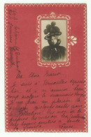 C.V. Avec Photo De La Fiancée Collée, N°56 - 5c. Vert Obl. Sc BRUXELLES DEPART Du 12 Janvier 1902 Vers Ciney - 16063 - Otros