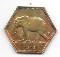 *belgium Congo 2 Francs  1943  Km 25   Xf - 1934-1945: Leopold III
