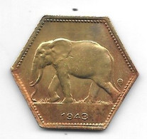 *belgium Congo 2 Francs  1943  Km 25   Xf - Congo (Belgian) & Ruanda-Urundi