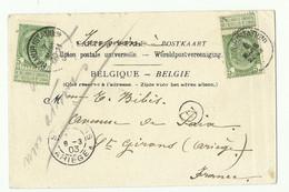 5c. Armoirie (x2) Obl. Sc NAMUR (STATION) Sur CV Du 6 Mars 1903 Vers La France (2ème Tp Annulé Du 7 Mars) Et Manuscrit - Otros