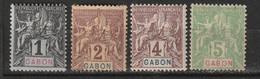 Gabon N° 16, 17, 18, 19 * - Nuovi