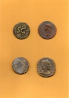Lot De 4 Monnaies    Romaines Diverses - Roman