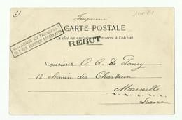 5c. Armoirie Obl. GAND DEPART Sur CV Du 27 Mai 1903 Vers Marcinelle Et Griffes REBUT + Non Admis Au Transport ... - - Otros