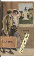 Piemonte-cuneo-racconigi Saluti Da Racconigi Primi 900 Veduta Coppia Con Valigia In Partenza (f.picc./v.retro) - Autres Villes