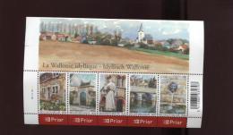 Belgie Blok Feuillet BL132 3541/45 Wallonie PLAATNUMMER 3  Onder Postprijs Sous Faciale !!! - Blocks & Sheetlets 1962-....