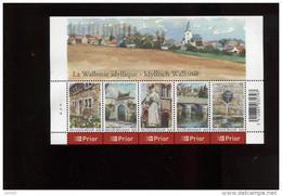 Belgie Blok Feuillet BL132 3541/45 Wallonie PLAATNUMMER 4  Onder Postprijs Sous Faciale !!! - Blocks & Sheetlets 1962-....