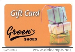 Green's Shoes Canada  Gift Card For Collection, Without Value # 1 - Gift Cards