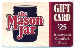The Mason Jar  U.S.A.  Gift Card For Collection, Without Value # 1 - Gift Cards